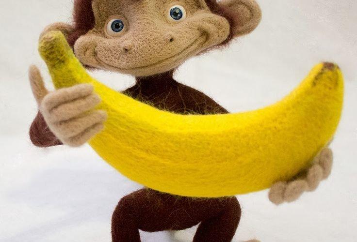 обезьянка-из-фетра-своими-руками