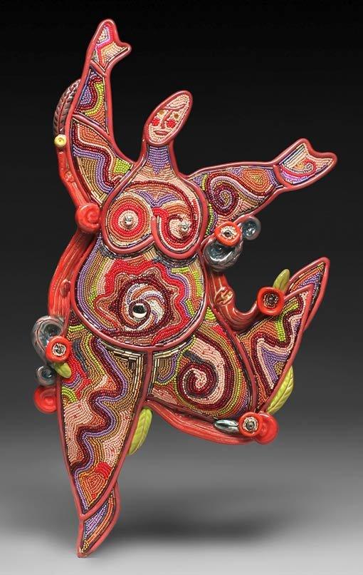 Потрясающие керамические украшения с бисером | Мой Милый Дом — идеи рукоделия, вязание, декорирование интерьеров