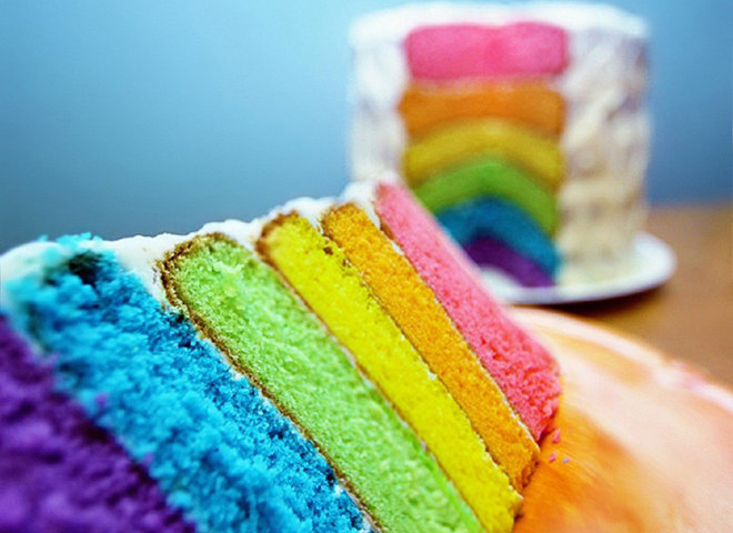 Радужный торт рецепты