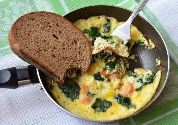 омлет со шпинатом рецепты с фото