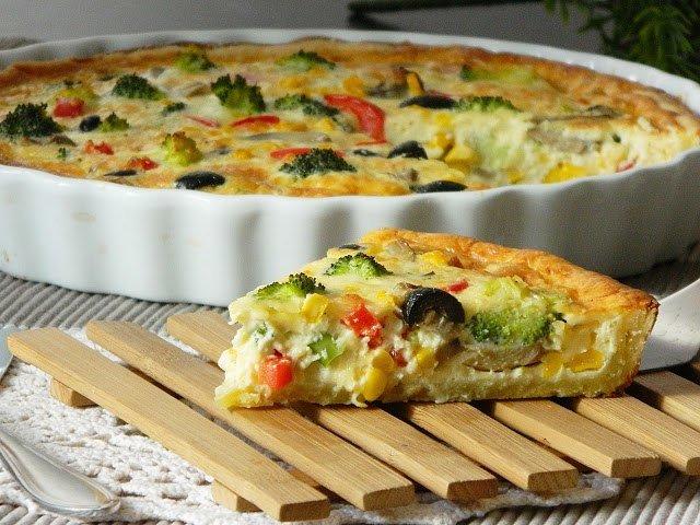 Рецепт вегетарианского киша. Готовим в мультиварке