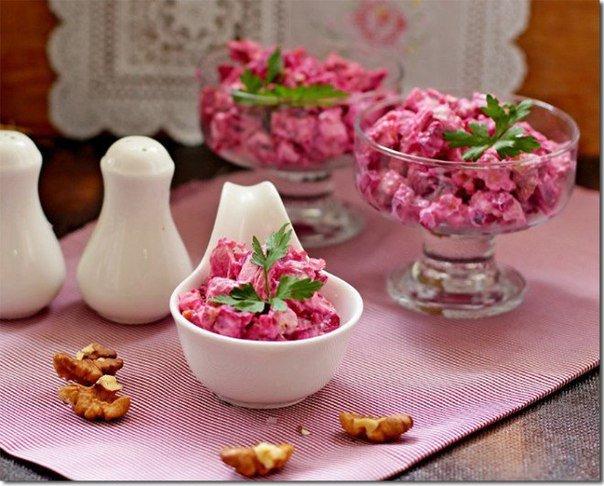 Рецепты по диете Дюкан Свекольный салат с курицей
