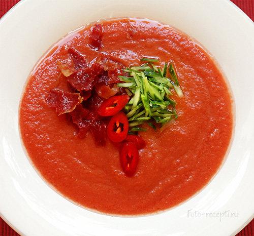 Суп Гаспачо рецепт приготовления пошаговый с фотографиями
