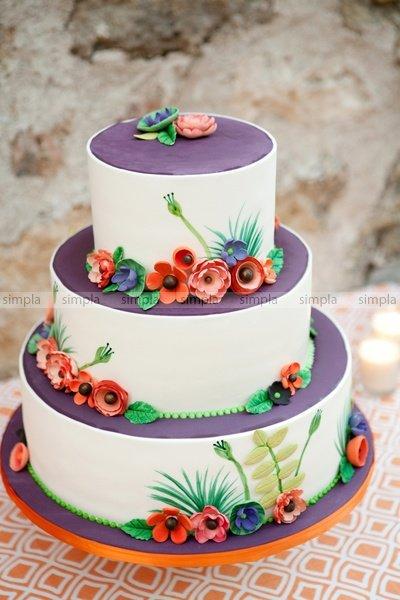 Свадебный торт из Мастики №5
