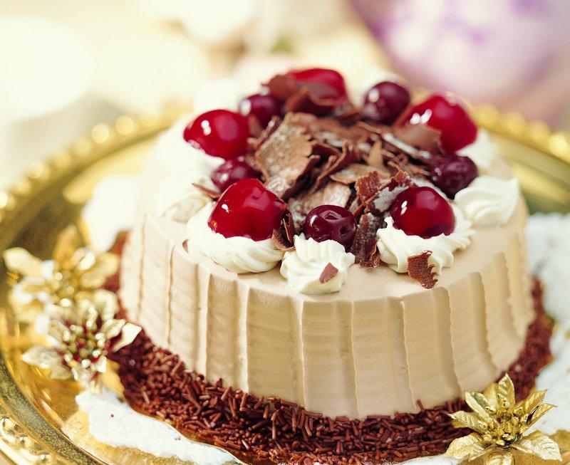 Торт, вишня, Еда обои, фото, картинки
