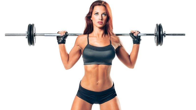 тренажерный зал, девушка, тело, ноги, упражнения, обучение, гантели, фитнес, спорт, спортивная форма 1920x1080
