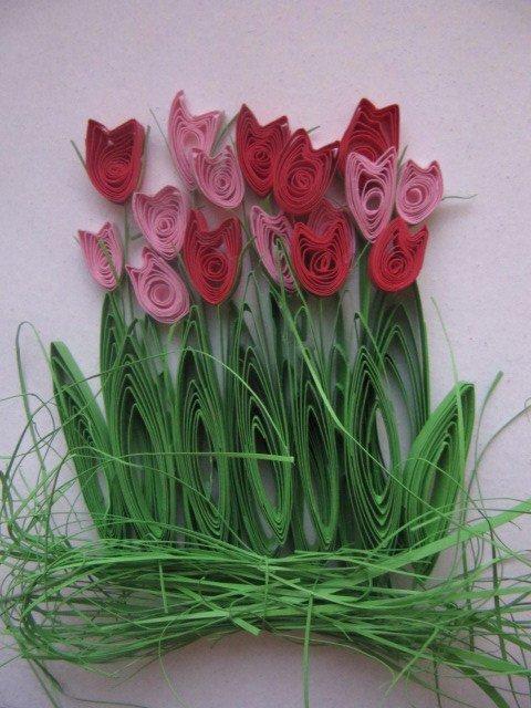 Весенний квиллинг: цветы тюльпаны, подснежники, открытки ручной работы
