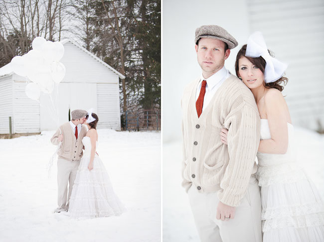 Белая зимняя свадьба