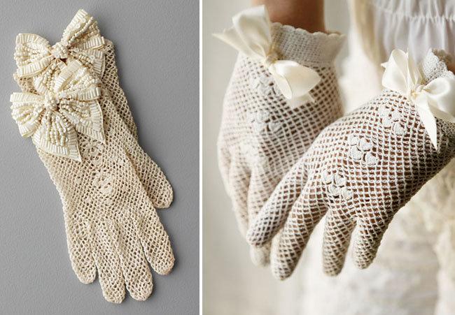 Новый свадебный тренд: винтажные кружевные перчатки невесты