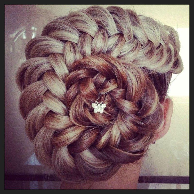 Плетение французских кос - Вечерние причёски