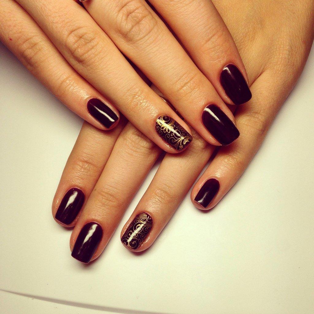 Картинки шеллак на ногтях красивые