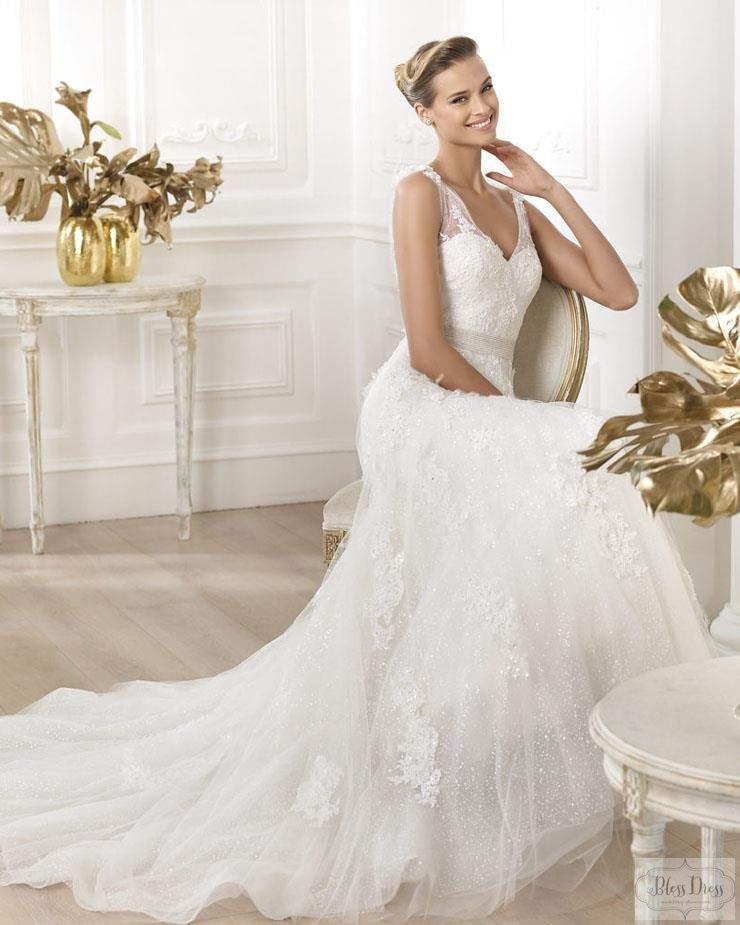 """Современное свадебное платье с элементами стиля """"ампир"""""""