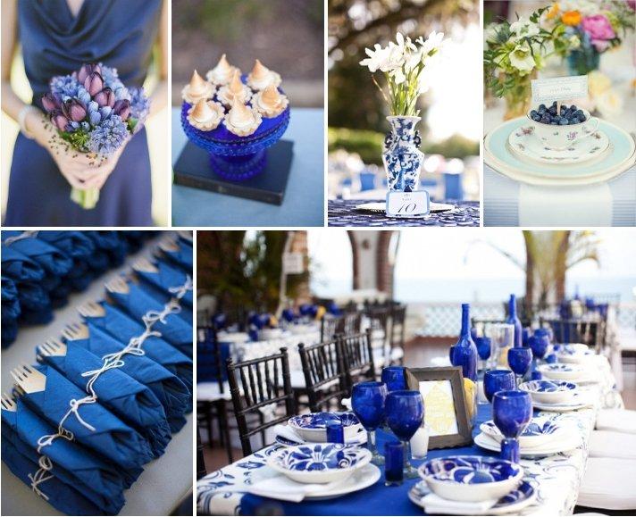 Свадьба в синем стиле, синий цвет свадьбы