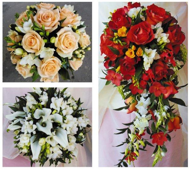 Свадебный букет невесты 2012 фото
