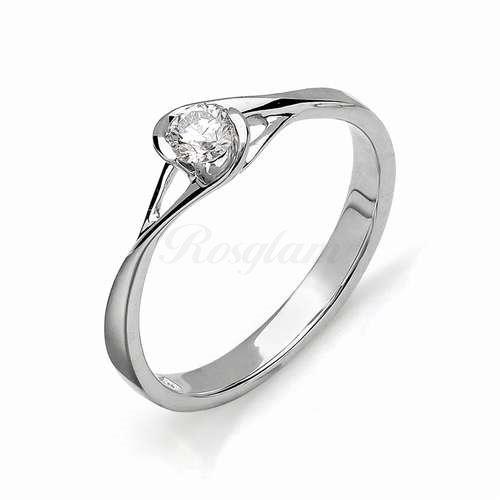 Золотое кольцо для помолвки (Бриллиант) - 1507-200 - www.rosglam.ru