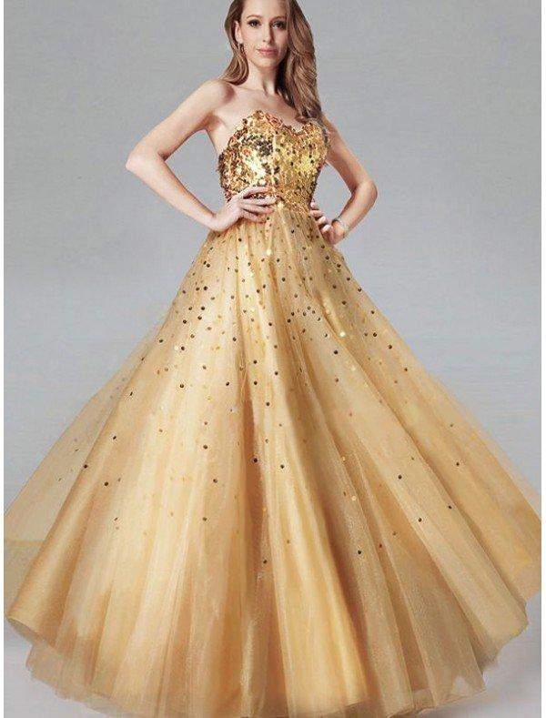 Выпускное платье золотое