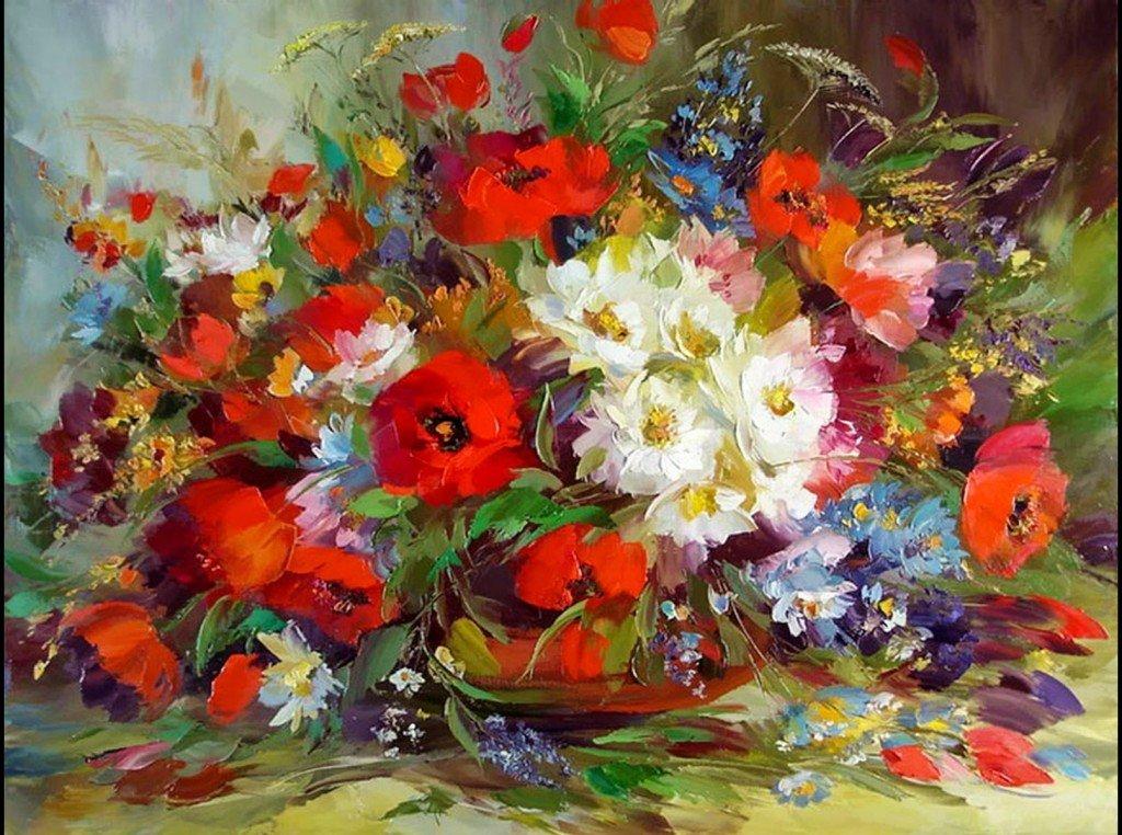 восхитительная картина с цветами оценивая влиятельность