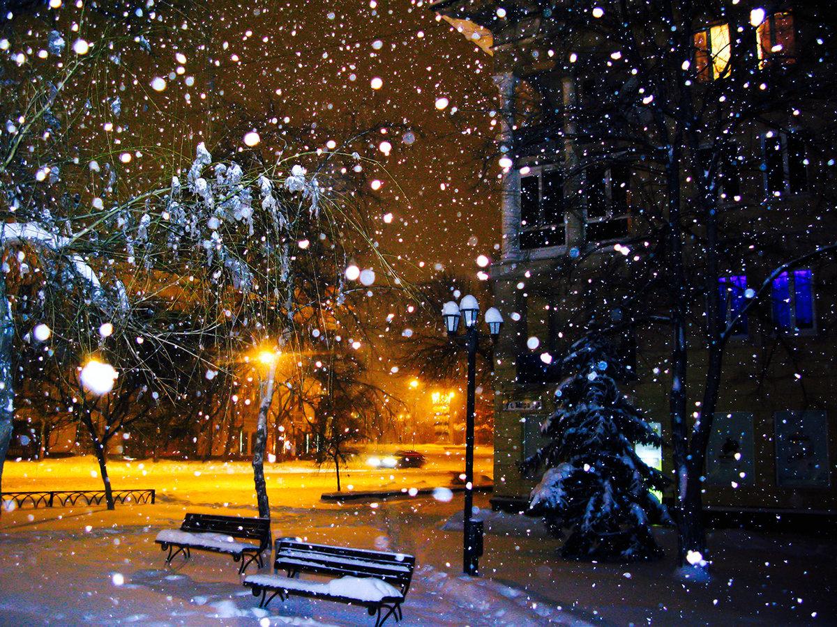 них образовался снег идет вечер картинки юниорской