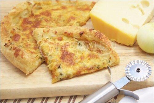 Луковый пирог слоеное тесто рецепт фото