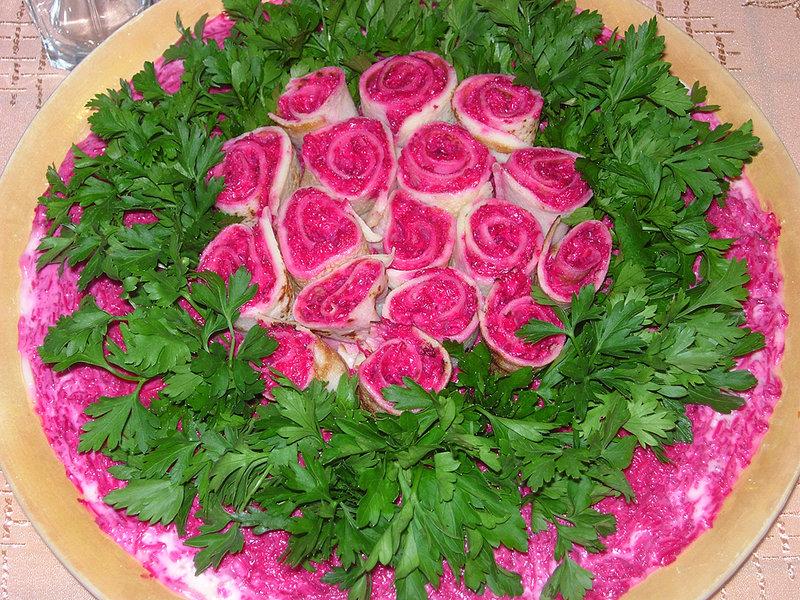 Фото украшений на салат