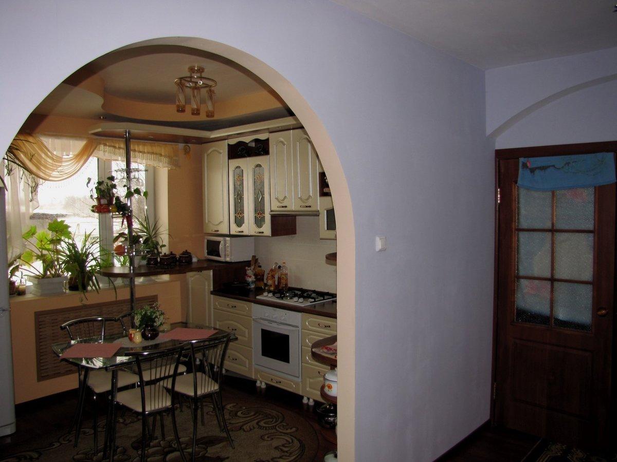 Арка с комнаты на кухню фото