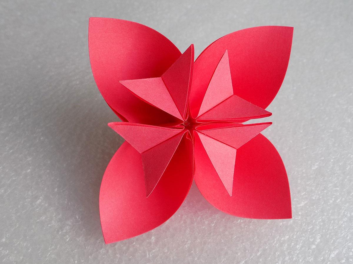 стал модель цветка из бумаги пошаговое фото этом