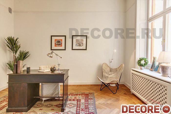 Интерьер домашнего кабинета в стиле нинемализм