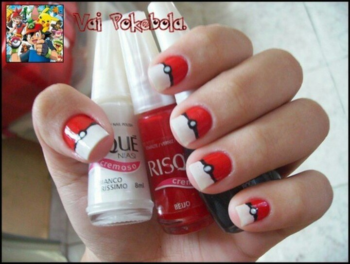 Pokemon Nail Art: Pokemon Nails, Pokeball Nail, Nail Designs, Art Ideas. - Pokemon Nail Art: Pokemon Nails, Pokeball Nail, Nail Designs, Art