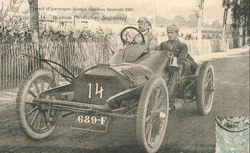 Фотография одного из первых гоночных автомобилей