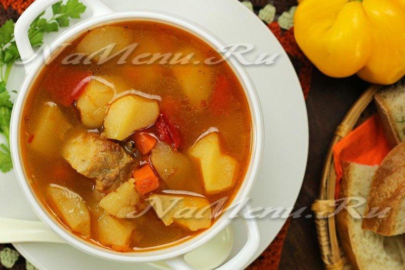 Суп со свиными ребрышками рецепт с фото