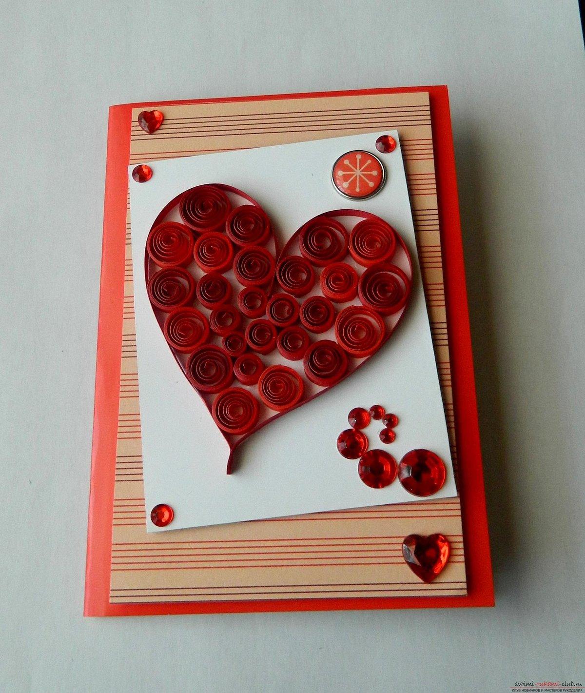 Днем свадьбы, открытки квиллинг сердечки