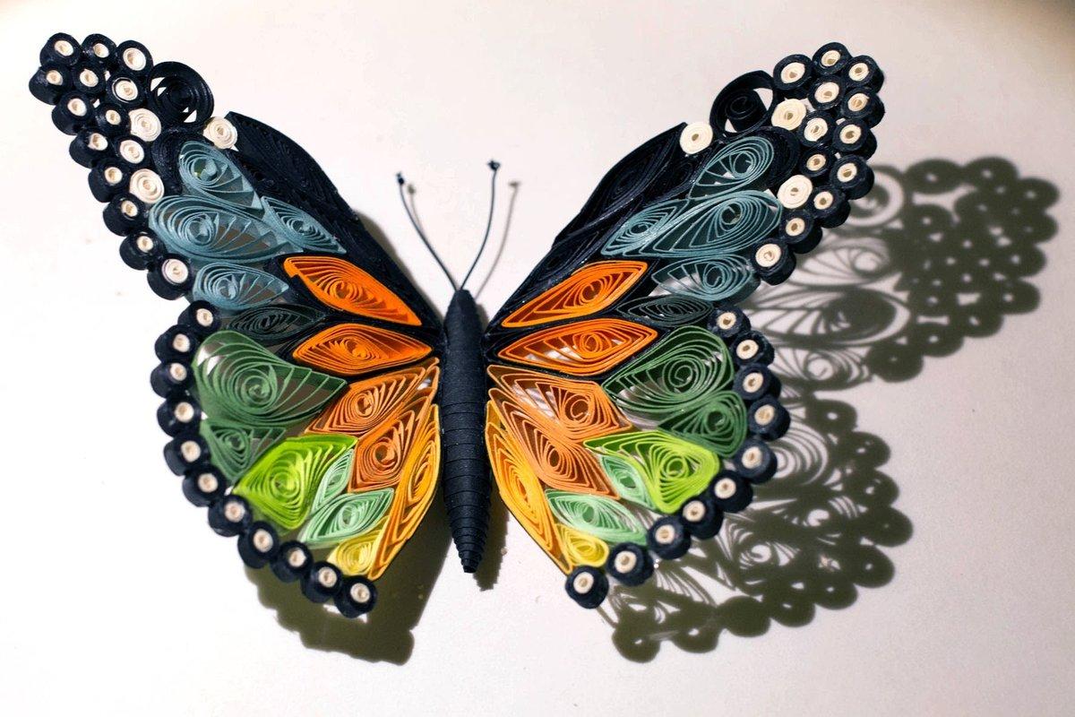 Открытка из квиллинга бабочку