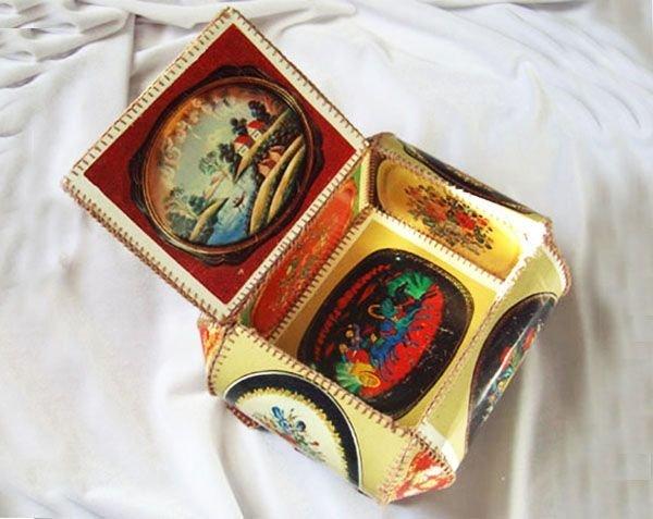 Шкатулки с открыток видео
