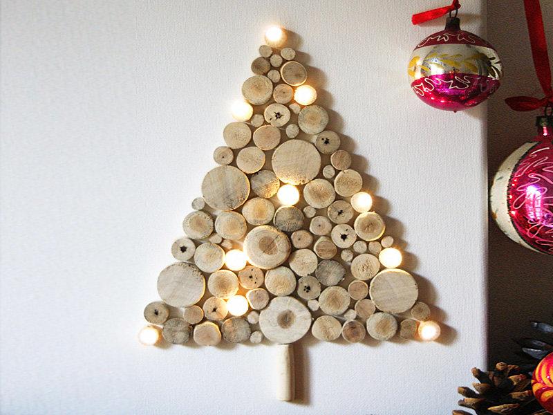 Новогодние поделки из дерева