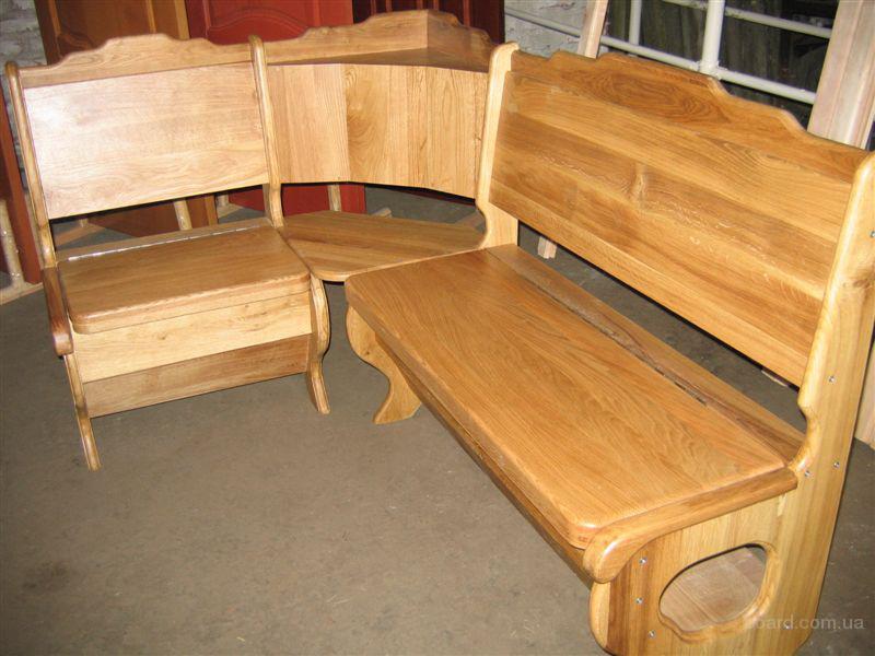 Кухонные уголки из дерева (42 фото натуральная) 28