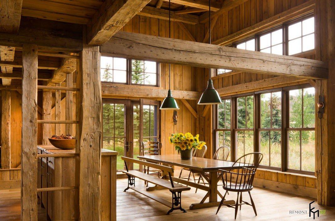 мебель для деревянного дома фото бритни