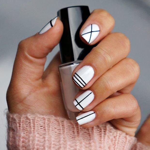 геометрический бело-черный узор