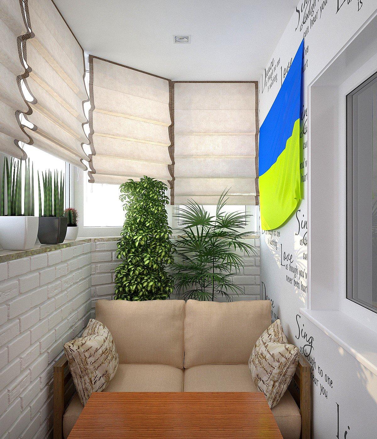 """Дизайн уютного балкона в светлых тонах"""" - карточка пользоват."""