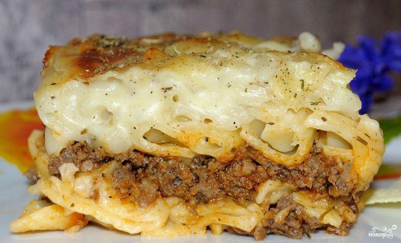 Спагетти с соусом бешамель рецепт с фото
