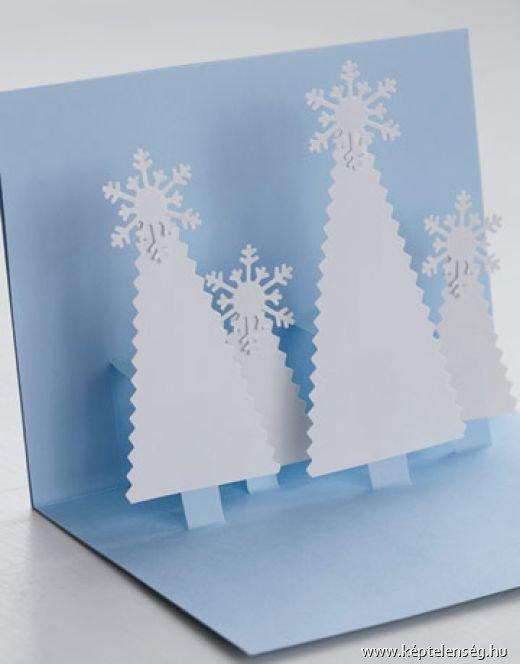 Новогодняя объемная открытка своими руками из бумаги