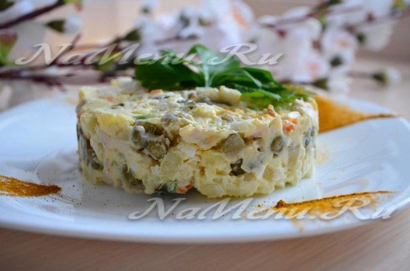 оливье классический рецепт с фото пошагово