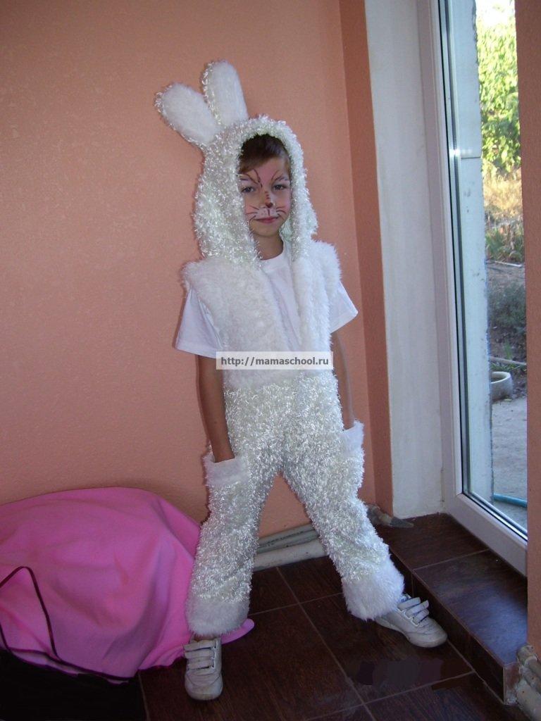 Карнавальный костюм зайчика своими руками фото 154