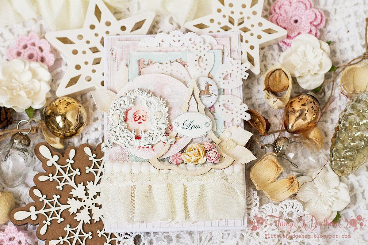 Прикольные, открытки с новым годом в стиле шебби шик