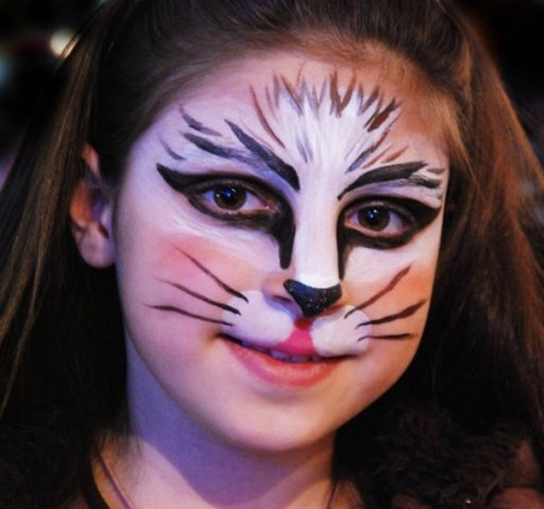 аквагрим рисунок кошка план составлен только