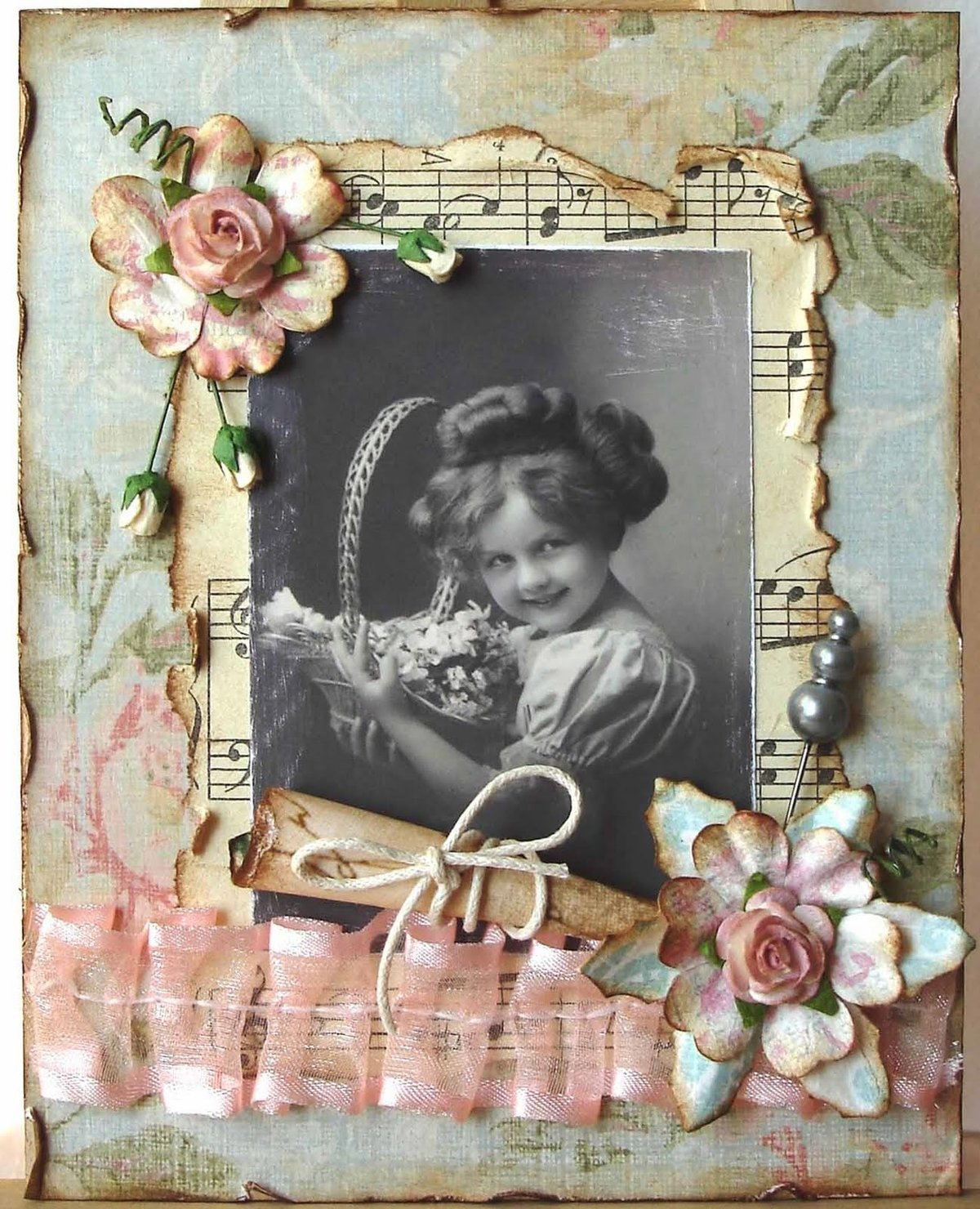 Дочка родилась, материал для винтажных открыток