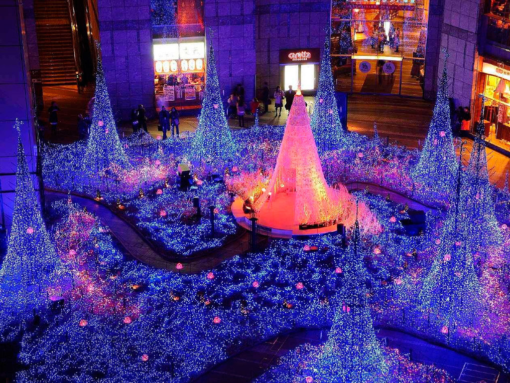 фото новый год токио даже