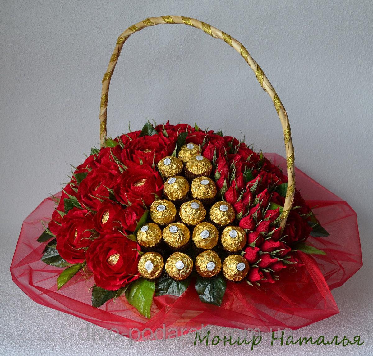 Цветов, букет из конфет маме на день рождения