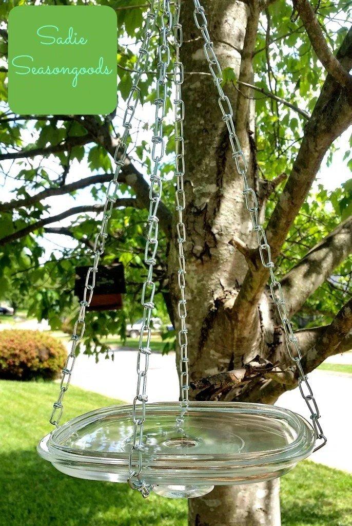 Стеклянная кормушка для птиц
