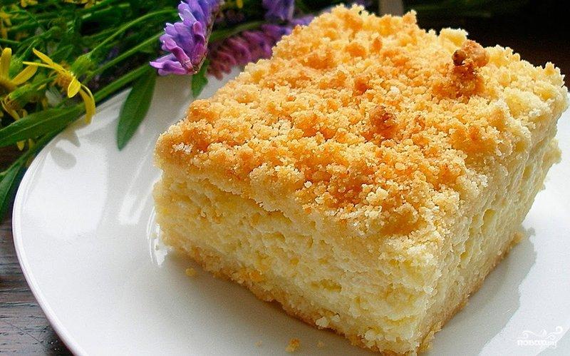Пирог творожный рецепт с фото в домашних
