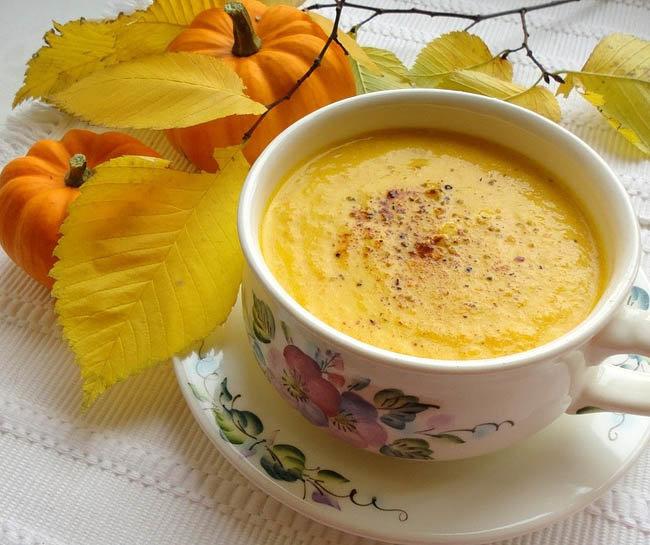 Суп из тыквы с плавленным сыром